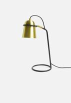 Sixth Floor - Hellos table lamp - gold