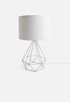Sixth Floor - Eos wire table lamp - grey