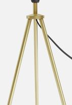 Sixth Floor - Tri table lamp - gold/white
