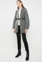 ONLY - Once longline tailored blazer - grey