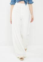 Missguided - Premium wide leg trousers - white