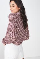 Cotton On - Serena tie front shirt - multi