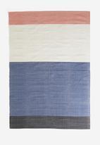 Sixth Floor - Bloccare woven rug - rust/black