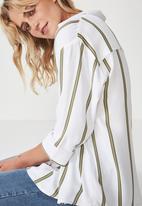 Cotton On - Lexie popover shirt - white & khaki