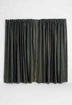 Sixth Floor - Self lined taped curtain - pewter