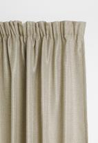 Sixth Floor - Self lined taped curtain - natural