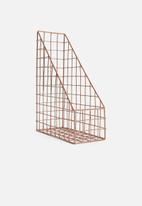 Sixth Floor - Wired magazine holder - copper
