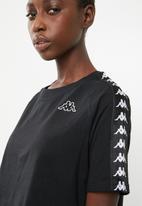 KAPPA - Banda T-shirt - black & white