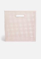 Sixth Floor - Perforated box storage - blush pink
