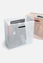Sixth Floor - Perforated box storage - white