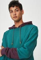 Cotton On - Drop shoulder pullover - turquoise & purple