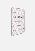Sixth Floor - Diamond wire wall grid - copper