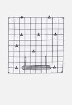 Sixth Floor - Square wire wall grid - black