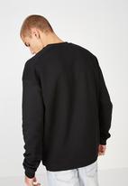 Cotton On - Drop shoulder crewneck - black