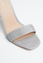 New Look - Glitter ankle strap stiletto heel - silver
