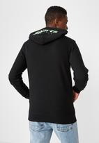 Cotton On - NYC sports supply fleece pullover  - black& green