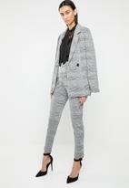 ONLY - Mojo long sleeve ruffle tie blouse - black