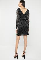 ONLY - Tayla long sleeve lace dress - black