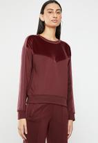 ONLY - Misty sweatshirt - burgundy