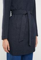 ONLY - Elli lightweight wrap coat - navy