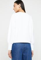 ONLY - Donna long sleeve sweatshirt - white
