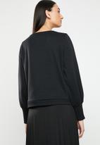 ONLY - Donna long sleeve sweatshirt - black