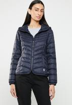 ONLY - Demi hooded puffa jacket - navy