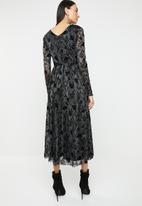 ONLY - Tayla long sleeve lace maxi dress - black