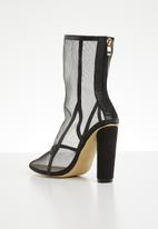 Footwork - Mesh block heel boot - black