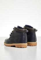 POP CANDY - Teens lace up boot - navy