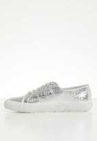 SUPERGA - 2750 Cotu metallic croc print bling lo - 031 grey silver