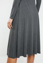 Superbalist - Midi fit & flare dress - charcoal