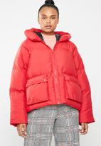 Missguided - Hooded ultimate puffer jacket - red