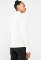 Vero Moda - Milda long sleeve rollneck button knit - neutral