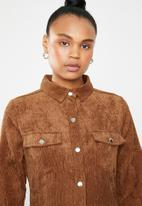 Missguided - Corduroy skater shirt dress - brown
