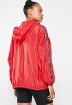 Missguided - Hooded half zip windbreaker - red