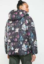 ONLY - Aya printed puffa jacket - multi