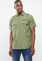 STYLE REPUBLIC - Arjen zip detail shirt - khaki