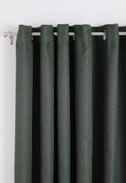 Sixth Floor - Self lined eyelet curtain - pewter