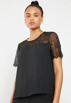 ONLY - Fiona lace top - black
