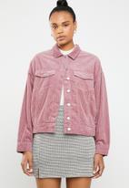 Jacqueline de Yong - Elya oversize corduroy jacket - pink