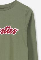 Cotton On - Penelope besties long sleeve tee - khaki & red