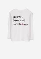 Cotton On - Penelope peace & love tee - white