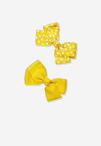 Cotton On - Big bow hair clips - yellow