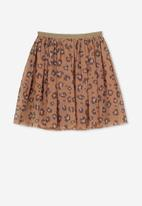 Cotton On - Trixiebelle tulle skirt - beige & brown