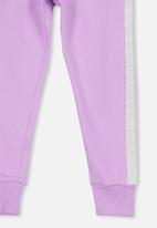 Cotton On - Kallie trackpant - purple & grey