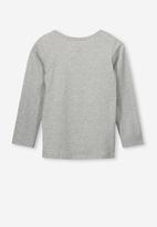 Cotton On - Anna tee - grey & white