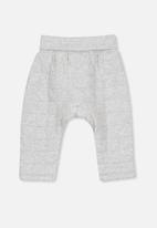 Cotton On - Rory quilted trackpant - grey