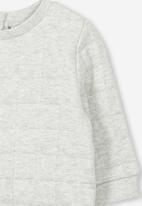 Cotton On - Scout quilted sweater - grey