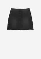 Cotton On - Finn denim skirt - black